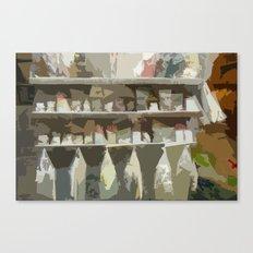 Italian Goods Shop Canvas Print