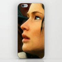 katniss iPhone & iPod Skins featuring Katniss by Kate Dunn