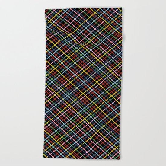 Weave 45 Black Beach Towel
