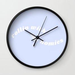 rollin with my homies Wall Clock