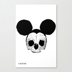 Dead Mickey Mouse Canvas Print