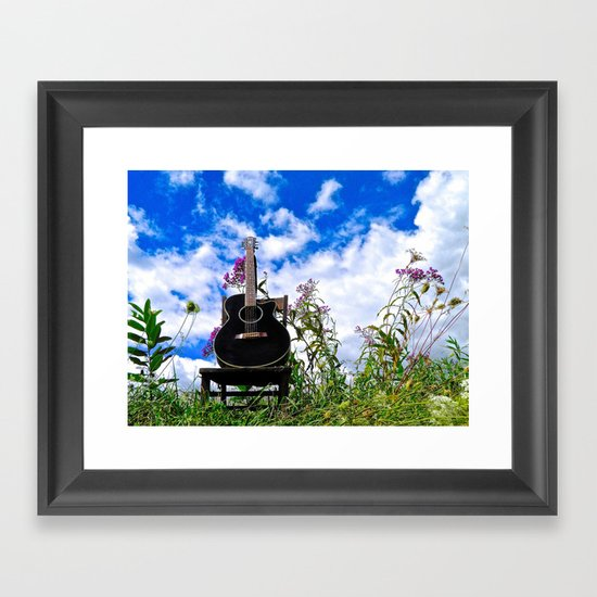 Playing the Field Framed Art Print