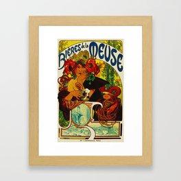 Vintage Art Nouveau Beer Ad Framed Art Print