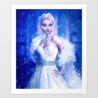 frozen elsa Art Prints featuring Elsa by Joe Roberts