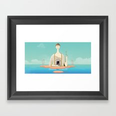 Dream state place Framed Art Print