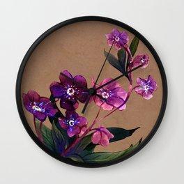 Helleborus lyrae Wall Clock