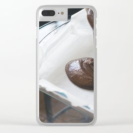 Chocolate Cake Clear iPhone Case