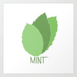 Mint Leaves Art Print