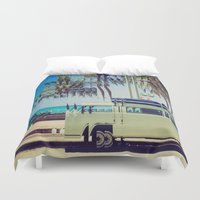 camp Duvet Covers featuring Camp Out by Back and Forth