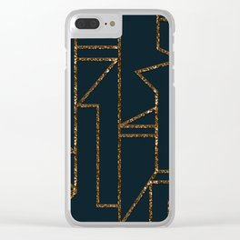 Ladders B (navy) Clear iPhone Case