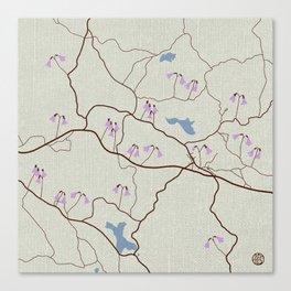 Alseda Map with Linnea  Canvas Print