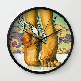 A Dancer's Feet Wall Clock
