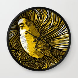 """Yellow  litlle bird "" Wall Clock"