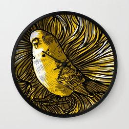 """Yellow  litlle bird "" Wall Clock"
