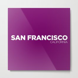 San Francisco California Metal Print