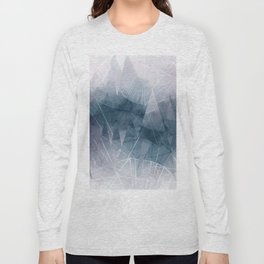 Ameythist Crystal Inspired Modern Abstract Long Sleeve T-shirt