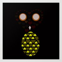 Owls Just Want to Have Fun No.3 Art Print