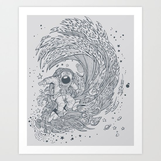 I only surf on Comets Art Print