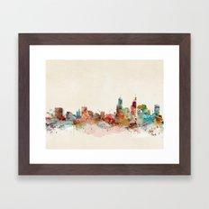 perth australia Framed Art Print