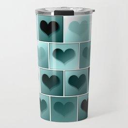 Monochrome hearts pattern Travel Mug