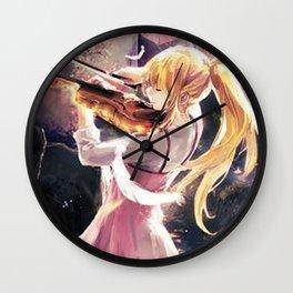 Anime Art - Kaori - The Beauty of Sound Wall Clock