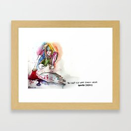 You can't fly with someone else's dreams Framed Art Print
