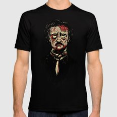Edgar Allan Poe Zombie Black Mens Fitted Tee MEDIUM