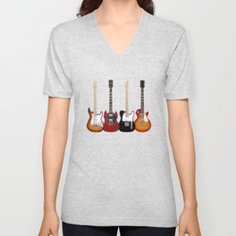 Four Electric Guitars Unisex V-Neck