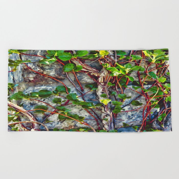 Climbing Vines - Nature's Art Work Beach Towel
