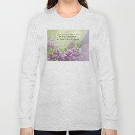 Serenity Prayer Lilac Buds Long Sleeve T-shirt