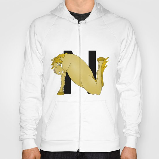 Pony Monogram Letter N Hoody