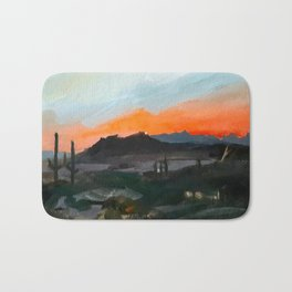 Sunset Over the Superstitions Bath Mat