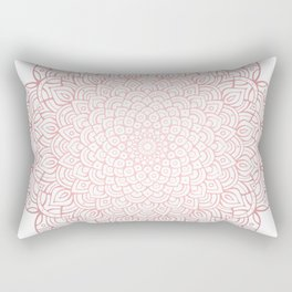 Earthy Rose Gold Blush - Unfolding Mandala Rectangular Pillow