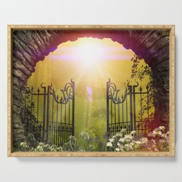 The gate to the world of dreams Serving Tray