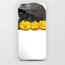 Halloween Turtle Witch Hat Jackolanterns iPhone Case