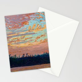 Tom Thomson - Sunset Sky - Canada, Canadian Oil Painting - Group of Seven Stationery Cards