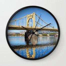 Sixth Street Bridge- Pittsburgh, Pennsylvania Wall Clock