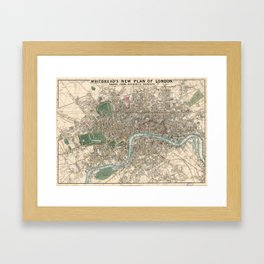 Vintage London Map - 1853 Framed Art Print
