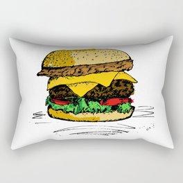 Tasty Hamburger od Awesomnes Rectangular Pillow