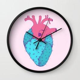 Cactus Heart Wall Clock
