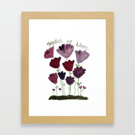 Together We Bloom Framed Art Print