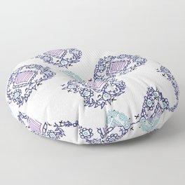 doodle ikat Floor Pillow