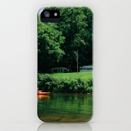 summer canoe iPhone Case