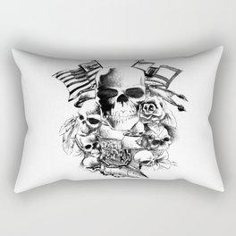 Skulls flags and flowers Rectangular Pillow