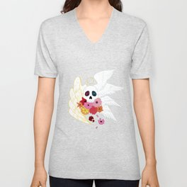 Feathers and Flowers Unisex V-Neck