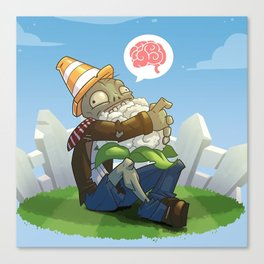 Plants vs Zombie Canvas Print