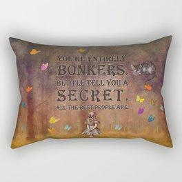 Wonderland Forest - Bonkers Quote Rectangular Pillow