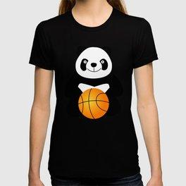 Panda with a basketball ball T-shirt