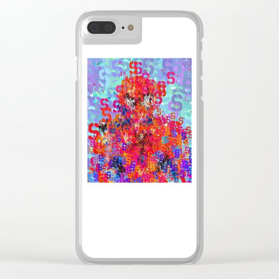 Spider Type Man - Abstract Pop Art Comic Clear iPhone Case