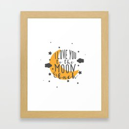 I Love You To The Moon.. - Yellow Palette Framed Art Print
